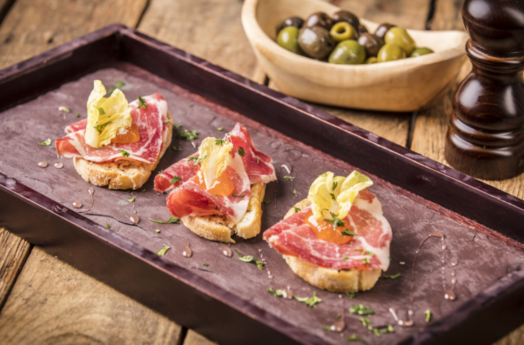 Truffle Crostini with Coppa di Parma