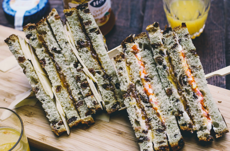 Sweet Club Sandwich with Hero Apricot Jam